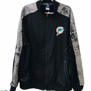 Reebok Miami Dolphins Men's Zip Up Jacket Size XL